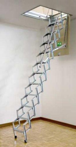 סולם נשלף / מדרגות לעלית גג/דגם סקארי