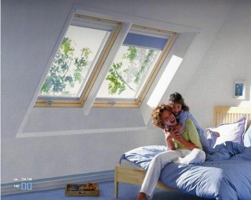 וילון הצללה אטום לחלון עליית גג של וולוקס