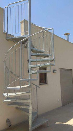 מדרגות חיצוניות / לוליני בוקסה חלקה / גילוון חם